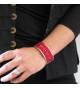 Bracelet Broderie Rouge