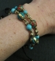 Bracelet fantaisie Turquoise Corail