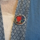 Broche bleu de Chine