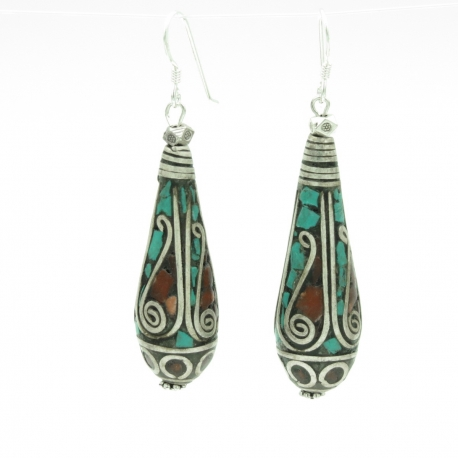 Tibet handicraft earrings