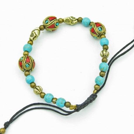 Adjustable fantaisie bracelet