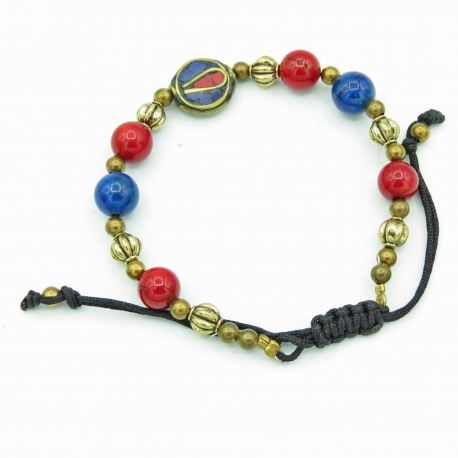 Fantasy bracelet Red and Blue