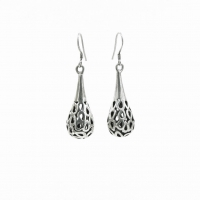 Openwork drop earrings