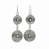 Ethnic double spiral earrings