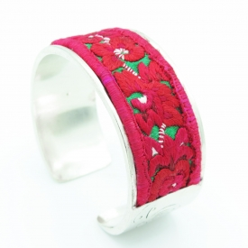 Red Embroidery Bracelet