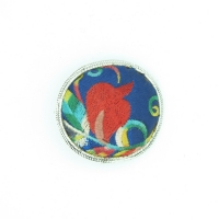China blue brooch