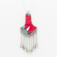Ethnic Red Pendant