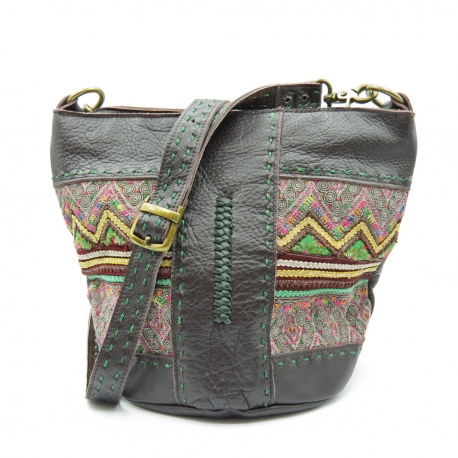 Leather Embroidery Bag