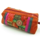 Trousse longue patchwork orange