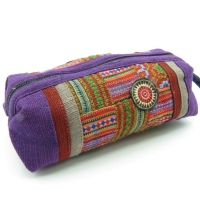 Long purple pen case