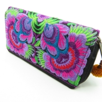 Purple Flower continental Wallet