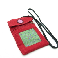 Red Shoulder strap pocket