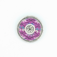 Pendant brooch Embroidery Miao