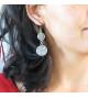 Boucles d'oreilles Double Dentelle