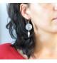 Boucles d'oreilles rondes à pendule