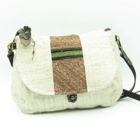small white bag embroidery