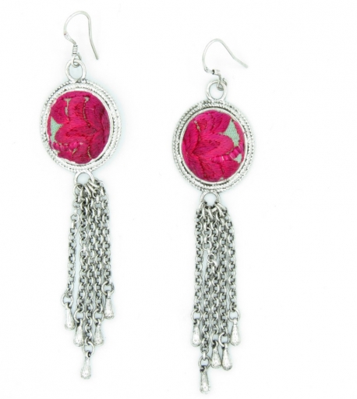 Yunnan red earrings