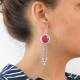 Yunnan red earrings