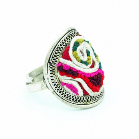 Traditional fabric Ring