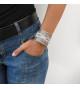 Wide pastel bracelet